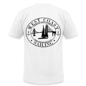 West Coast Sailing - Men's T-Shirt by American Apparel