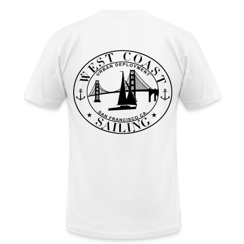 West Coast Sailing - Men's  Jersey T-Shirt