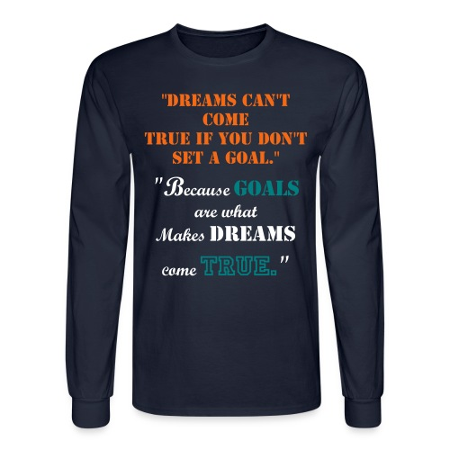 Motivational Goal Shirt with #JBP - Men's Long Sleeve T-Shirt