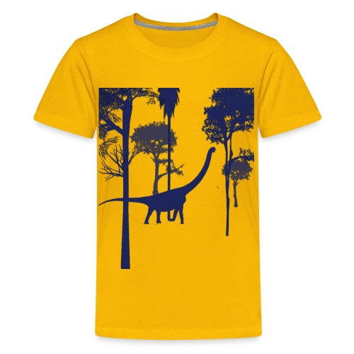 Dino in the Forest - Kids' Premium T-Shirt