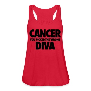 Cancer You Picked The Wrong Diva Tanks - Women's Flowy Tank Top by Bella