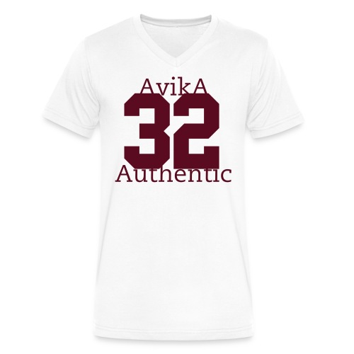 Authenticated 32 AvikA - Men's V-Neck T-Shirt by Canvas