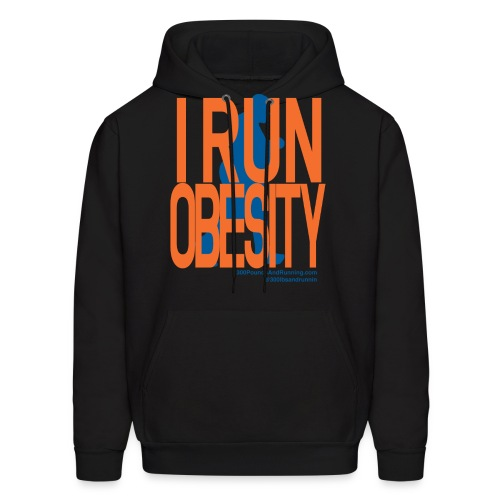 Run-obesity-shirt3.png - Men's Hoodie