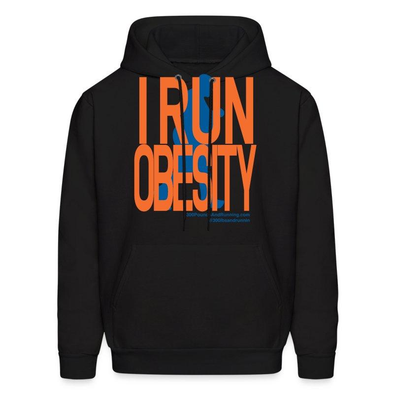 Run-obesity-shirt3.png - Men's Hoodie