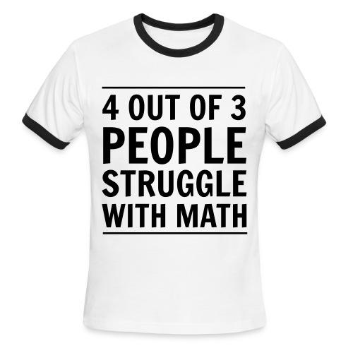 Math Struggle - Men's Ringer T-Shirt