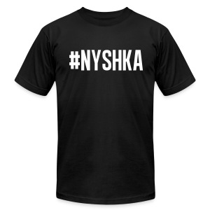 #NYSHKA white - Men's T-Shirt by American Apparel