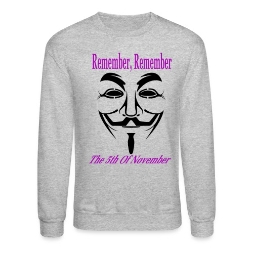 Guy Fawkes Day Mask Long Sleeve T-Shirt For Men - Crewneck Sweatshirt