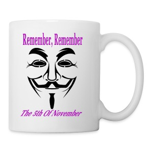 Guy Fawkes Day Mask Coffee Mug - Coffee/Tea Mug