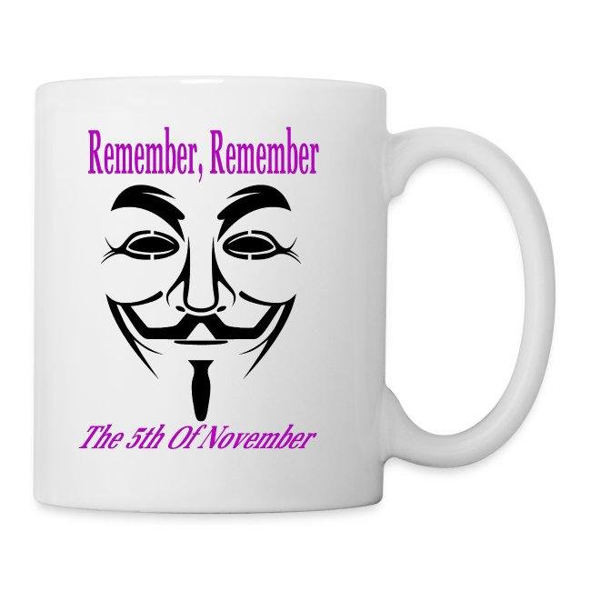 Guy Fawkes Day Mask Coffee Mug