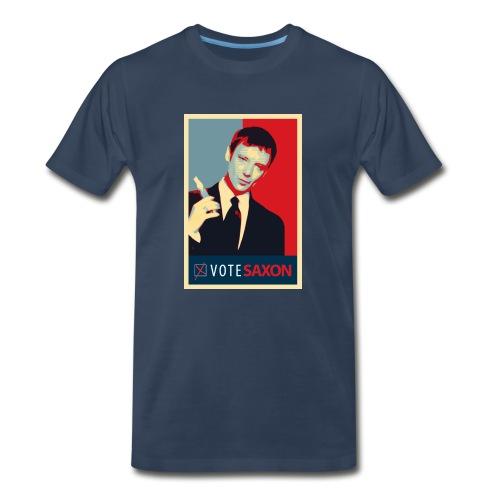Vote Saxon - Doctor Who - Men's Premium T-Shirt