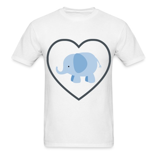 Elephant Love Men's - Men's T-Shirt