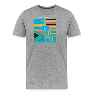 4 Flag Men's Tee - Grey - Men's Premium T-Shirt