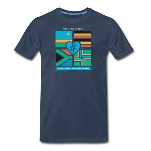 4 Flag Men's Tee - Navy - Men's Premium T-Shirt