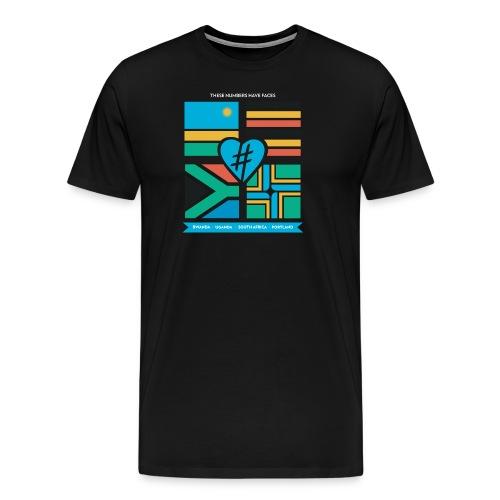 4 Flag Men's Tee - Black - Men's Premium T-Shirt