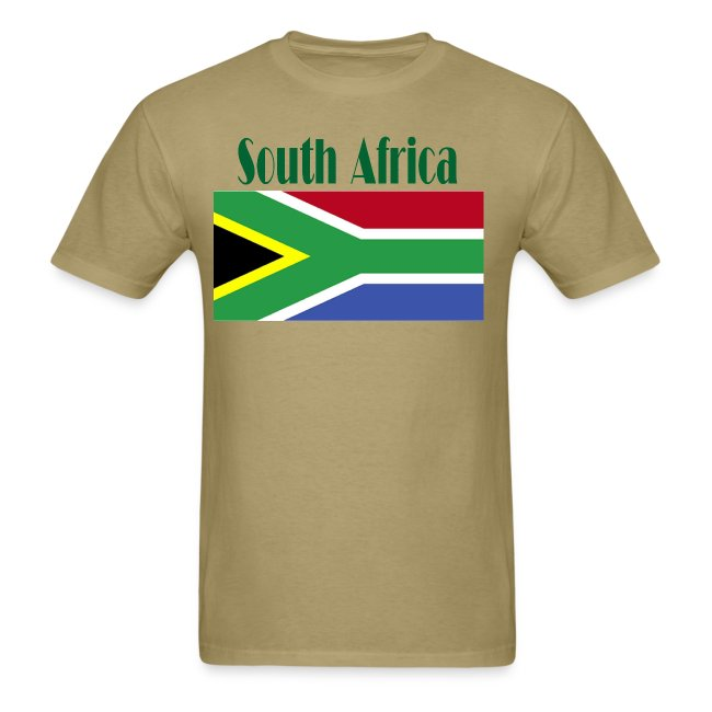 South African Flag T-Shirt For Men
