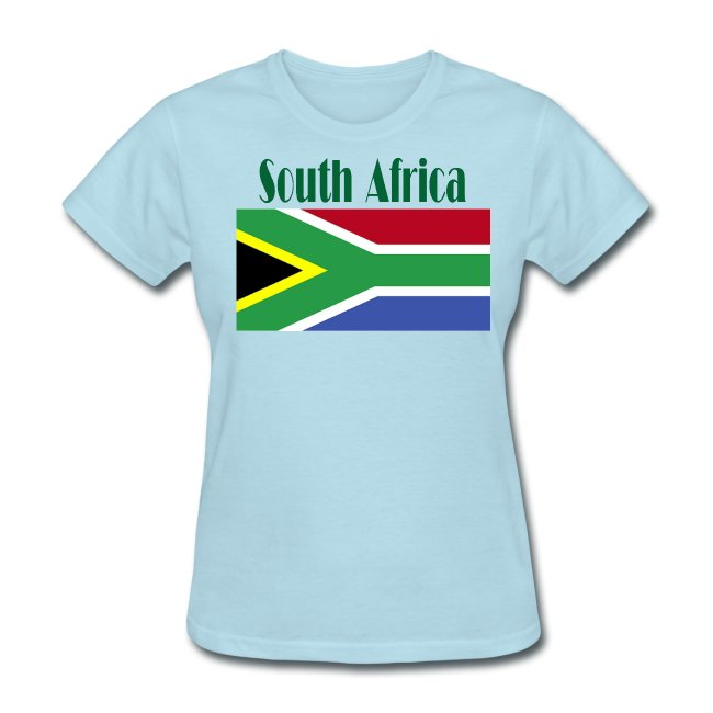 South African Flag T-Shirt For Women