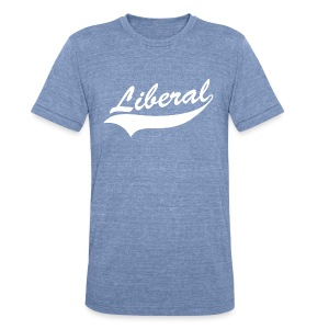Liberal  - Unisex Tri-Blend T-Shirt by American Apparel