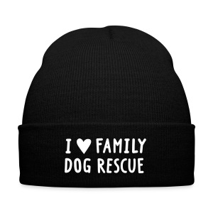 I Love Family Dog Rescue: Beanie - Knit Cap with Cuff Print
