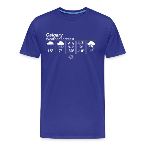 Mens Calgary Forecast T - Men's Premium T-Shirt