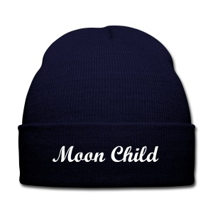 Moon Child - Knit Cap with Cuff Print
