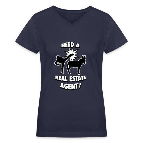 Kick Ass Agent V-Neck - Women's V-Neck T-Shirt