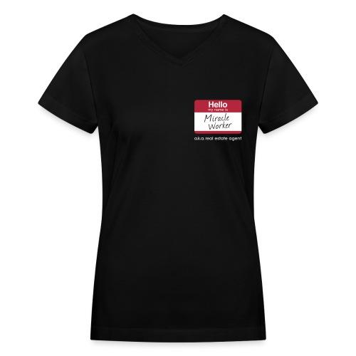 Miracle Worker V-Neck - Women's V-Neck T-Shirt