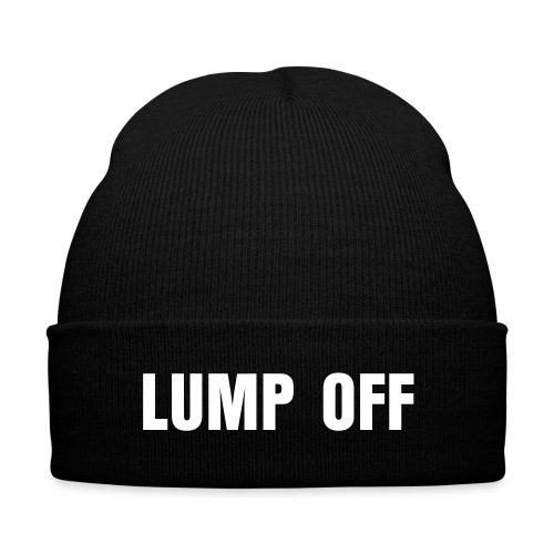 Lump Off - Knit Cap with Cuff Print