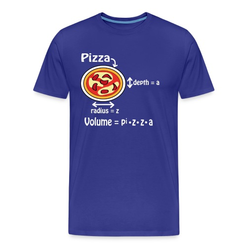 Pizza for geek and nerds - Men's Premium T-Shirt