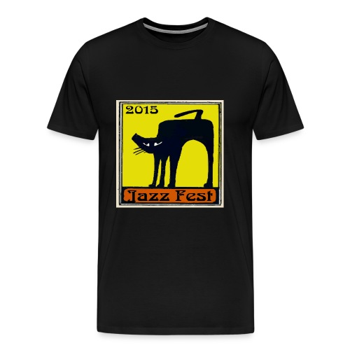 Jazz Fest 2015 Black Cat - Men's Premium T-Shirt