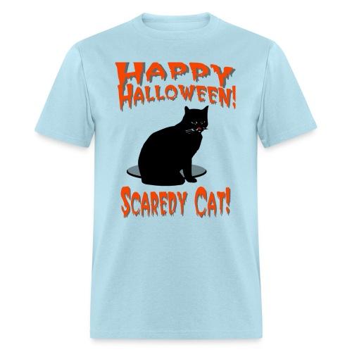 Happy Halloween Scaredy Cat T-Shirt For Men - Men's T-Shirt