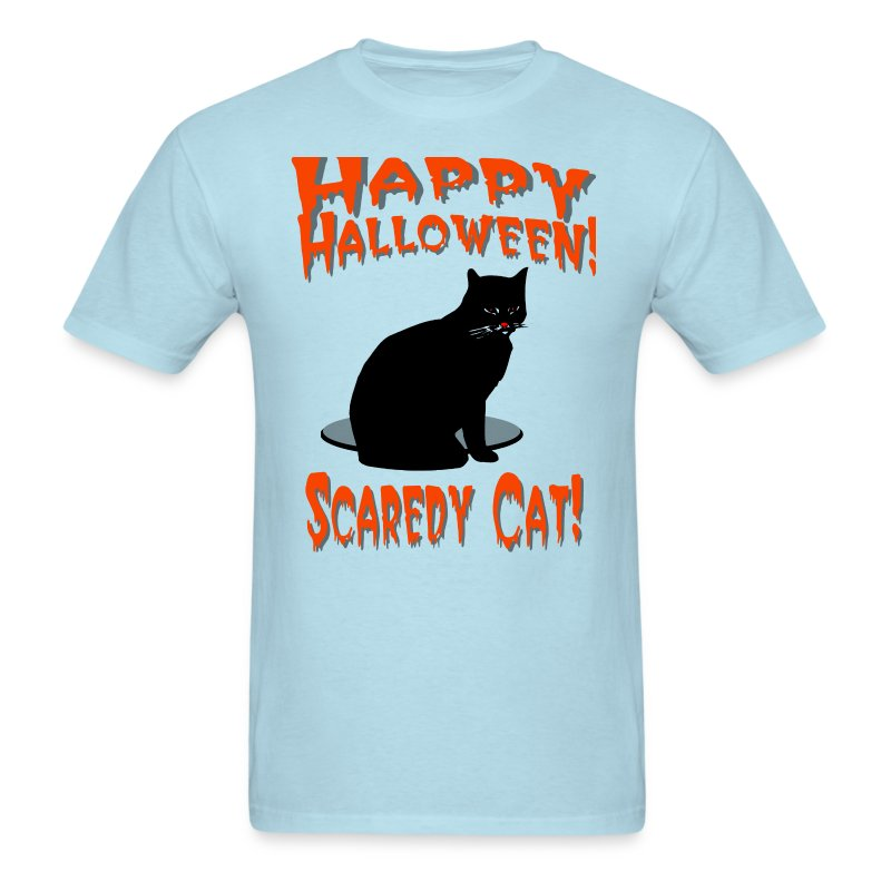 Happy Halloween Scaredy Cat T-Shirt For Men - Men's T-Shirt