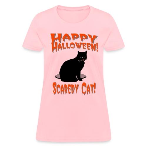 Happy Halloween Scaredy Cat T-Shirt For Women - Women's T-Shirt