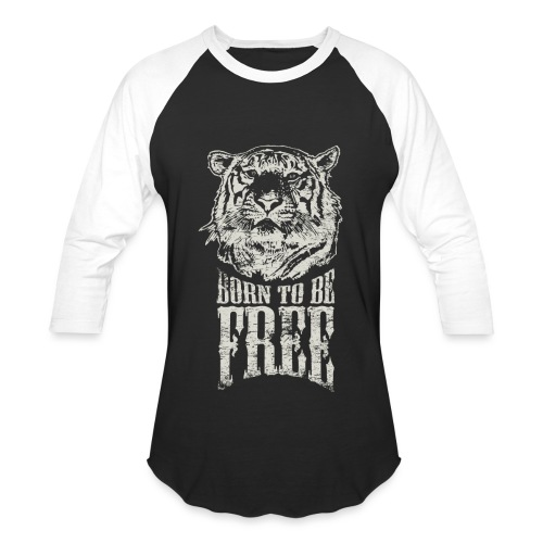 Born To Be Free Baseball Jersey - Baseball T-Shirt