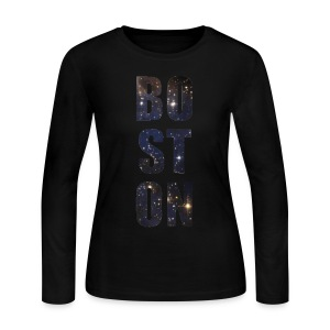 Boston Full of Stars - Women's Long Sleeve Jersey T-Shirt