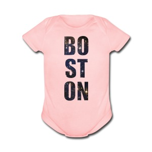 Boston Full of Stars - Short Sleeve Baby Bodysuit