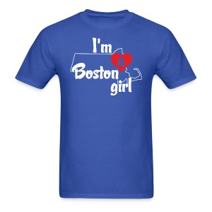 I'm A Boston Girl Heart - Men's T-Shirt