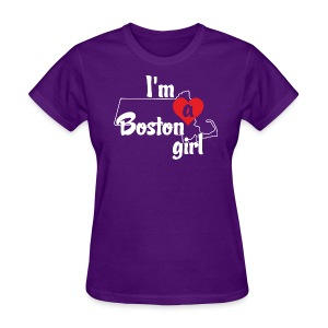 I'm A Boston Girl Heart - Women's T-Shirt