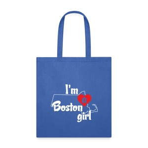 I'm A Boston Girl Heart - Tote Bag