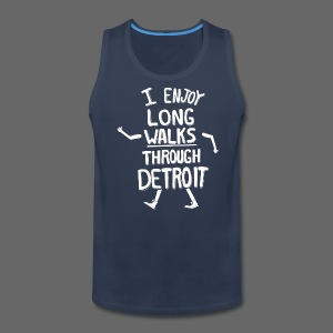 I Enjoy Long Walks Through Detroit - Men's Premium Tank