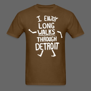 I Enjoy Long Walks Through Detroit - Men's T-Shirt