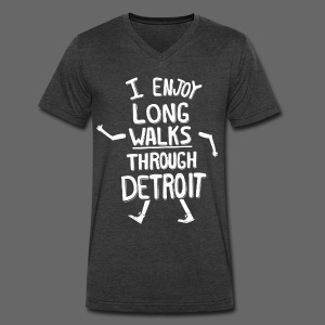 I Enjoy Long Walks Through Detroit - Men's V-Neck T-Shirt by Canvas