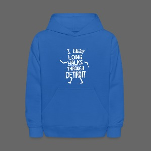 I Enjoy Long Walks Through Detroit - Kids' Hoodie