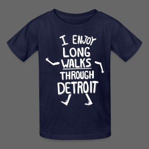 I Enjoy Long Walks Through Detroit - Kids' T-Shirt