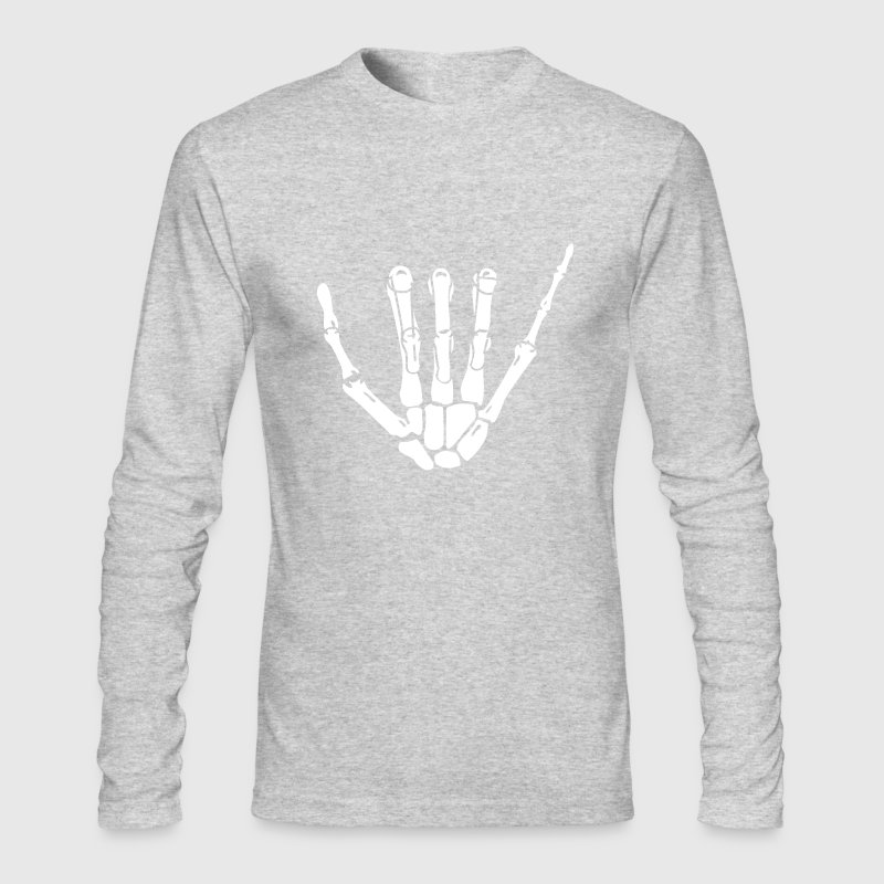 Hang Loose Skeleton Hand Long Sleeve Shirts - Men's Long Sleeve T-Shirt by Next Level