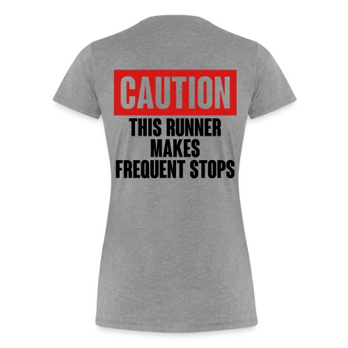 Caution Runner - Women's Premium T-Shirt