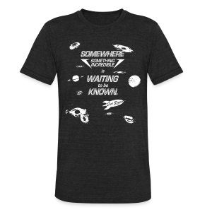 Carl Sagan - Something Incredible  - Unisex Tri-Blend T-Shirt by American Apparel