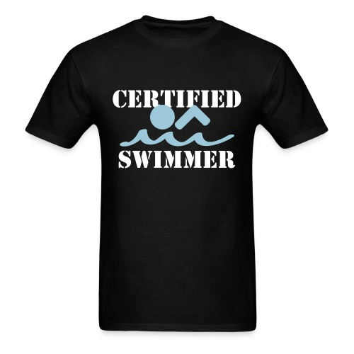 'Certified' Swimmer - Men's T-Shirt