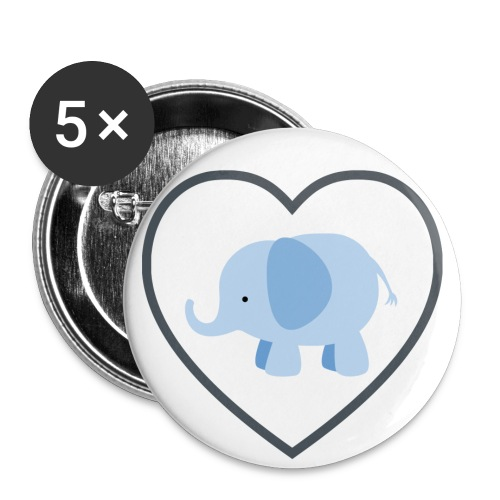 Elephant Love Buttons - Buttons large 2.2'' (5-pack)