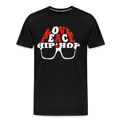 Love Peace & Hip-Hop  - Men's Premium T-Shirt