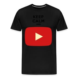 KEEP CALM AND... PLAY - Men's Premium T-Shirt